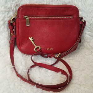 FOSSIL Piper Toaster Pebbled Leather Crossbody